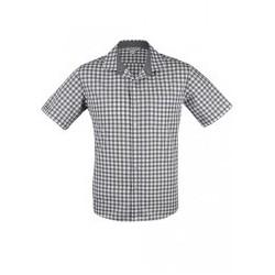 Mens Devonport Short Sleeve Shirt Charcoal/Silver - 1908S