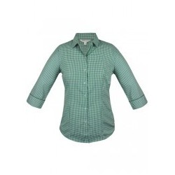 Ladies Epsom 3/4 Sleeve Shirt Emerald - 2907T