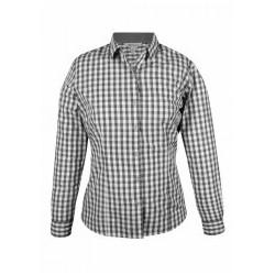 Ladies Devonport Long Sleeve Shirt Charcoal/Silver - 2908L