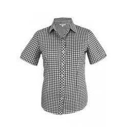 Ladies Brighton Short Sleeve Shirt Black/White - 2909S