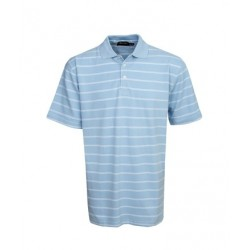 Striped Cotton Pique Polo - P25