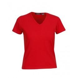 Ladies Cotton Lycra T-shirt (V-Neck) - T25