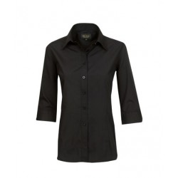 Ladies ¾ Length Sleeve Poplin Business Shirt - B05