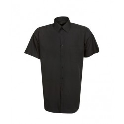Mens Poplin Business Shirt, Short Sleeve - B04