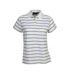 Striped Cotton Pique Polo, Ladies - P28