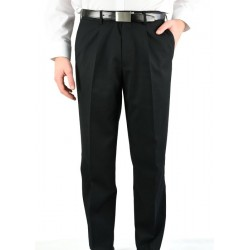 Mens Pleated Pant Black - 1801