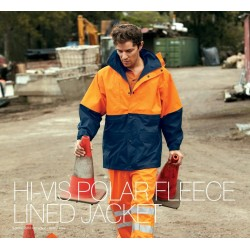 HI-VIS POLAR FLEECE LINED JACKET - SJ0431