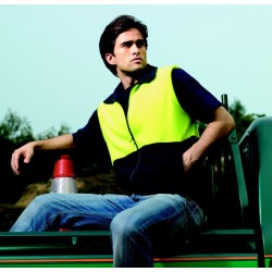 HI-VIS POLAR FLEECE VEST - SJ0541