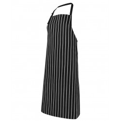 Bib Striped Without Pocket Black/White - 5BSNP