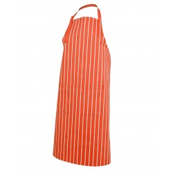 Bib Striped Apron Orange/White - 5BS