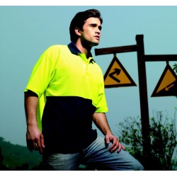 HI-VIS POLY/COTTON POLO -SHORT SLEEVE - SP0359