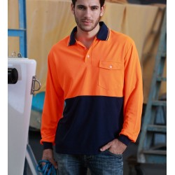 HI-VIS SAFETY POLO -LONG SLEEVE - SP0426