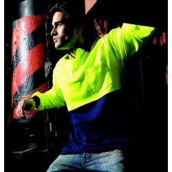 HI-VIS POLYFACE/COTTON BACK POLO -L/S - SP0536