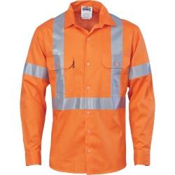 Cotton Shirt X Back CSR T L/S - 3546