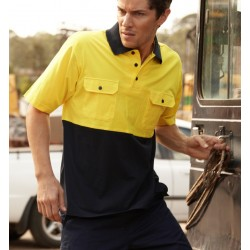 HI-VIS COTTON JERSEY POLO S/S - SP1010