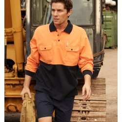 HI-VIS COTTON JERSEY POLO L/S - SP1011