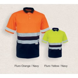 High-Vis S/S Polyface/COtton Back Polo - SP1249