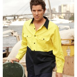 HI-VIS COTTON TWILL SHIRT L/S - SS1013