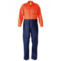 2 Tone Hi Vis Coveralls Regular Weight - BC6357