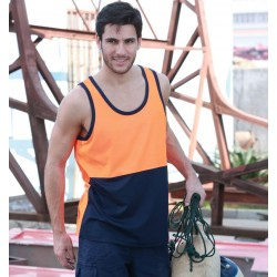 HI-VIS POLYFACE/COTTON BACK SINGLET - ST0540