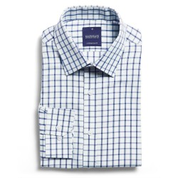 Window Pane Check L/S Blue - 1712L