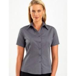 Womens Short Sleeve Chambray Graphite - 161