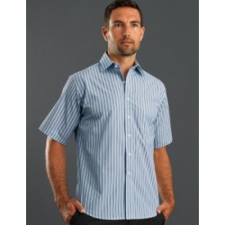Mens Short Sleeve Fashion Stripe Lime - 423