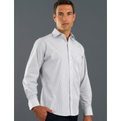 Mens Long Sleeve Herringbone Stripe - 466