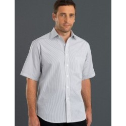 Mens Short Sleeve Herringbone Stripe - 467