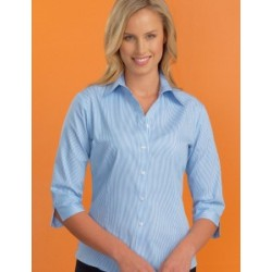 Womens Stretch 3/4 Sleeve Bengal Stripe - 520