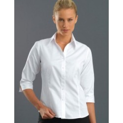 Womens 3/4 Sleeve Oxford - 300
