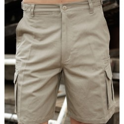 COTTON DRILL CARGO SHORTS - WK615
