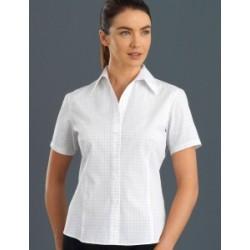 Womens Short Sleeve Window Check - 131