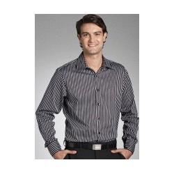 BOLD STRIPE MENS SEMI FIT LONG SLEEVE SHIRT - 3010L11