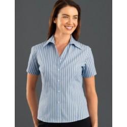 Womens Short Sleeve Fashion Stripe Lime - 323