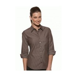 MODEL STRIPE LADIES SEMI FIT 3/4 SLEEVE SHIRT - 6070Q12