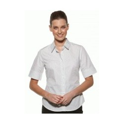 MODEL STRIPE LADIES SEMI FIT SHORT SLEEVE SHIRT - 6070Z12
