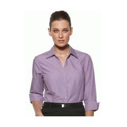 MODEL STRIPE LADIES FITTED 3/4 SLEEVE SHIRT - 6200Q12