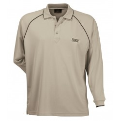 Mens Cool Dry L/S Polo B/N - 1040