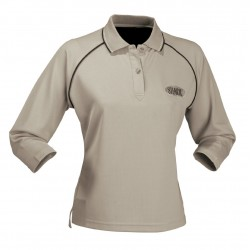 Ladies Cool Dry 3/4 Sleeve Polo B/N/W - 1140