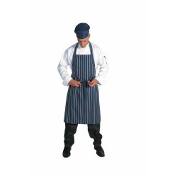 210gsm Polyester Cotton Pinstripe Full Bib Apron?No Pocket - 253