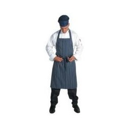 Nylon/PVC Coated Pinstrip Waterproof Bib Apron - 2703