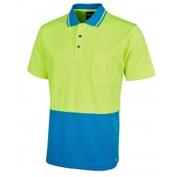 Hi Vis Non Cuff Traditional Polo - 6HVNC