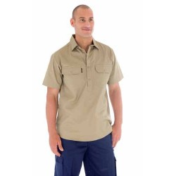 190gsm Cotton Drill Close Front Work Shirt- S/S - 3203