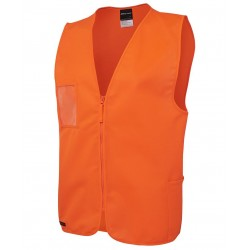 Hi Vis Zip Safety Vest - 6HVSZ