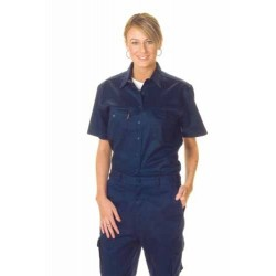 190gsm Ladies Cotton Drill Work Shirt, S/S - 3231