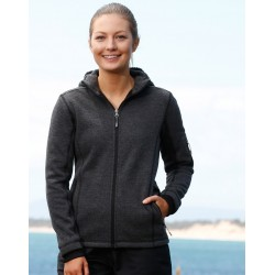 Ladies Heather Bonded Coral Fleece Jacket - JK42