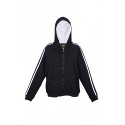 Mens unbrushed stripe sleeve hoodie - F600HZ