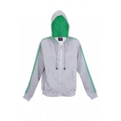 Junior unbrushed stripe sleeve hoodie - F600UN