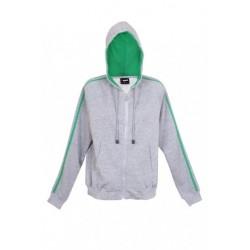 Junior unbrushed stripe sleeve hoodie - F600UN